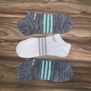 Women's Adidas ankle socks 3 pair NWOT